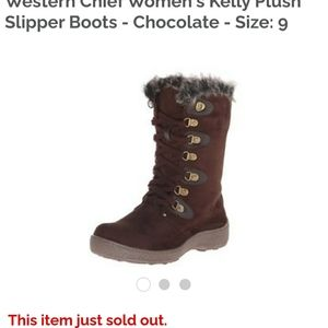 Western Chief Kelly chocolate womens boot